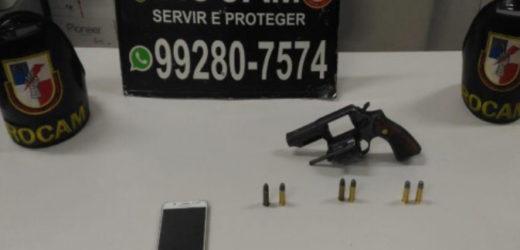 Em Manaus, adolescente é preso por porte ilegal de arma de fogo
