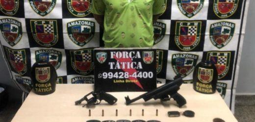 Homem é preso com arma escondida em carro e mais de R$ 3 mil em Manaus