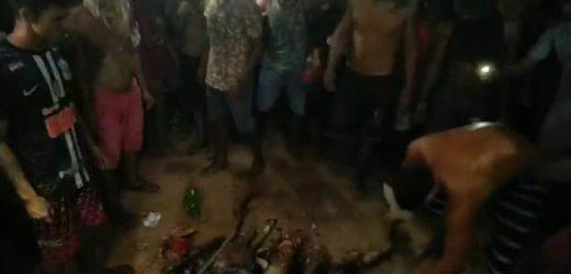 Família invade delegacia, tira estuprador, esquarteja e queima o corpo em via pública