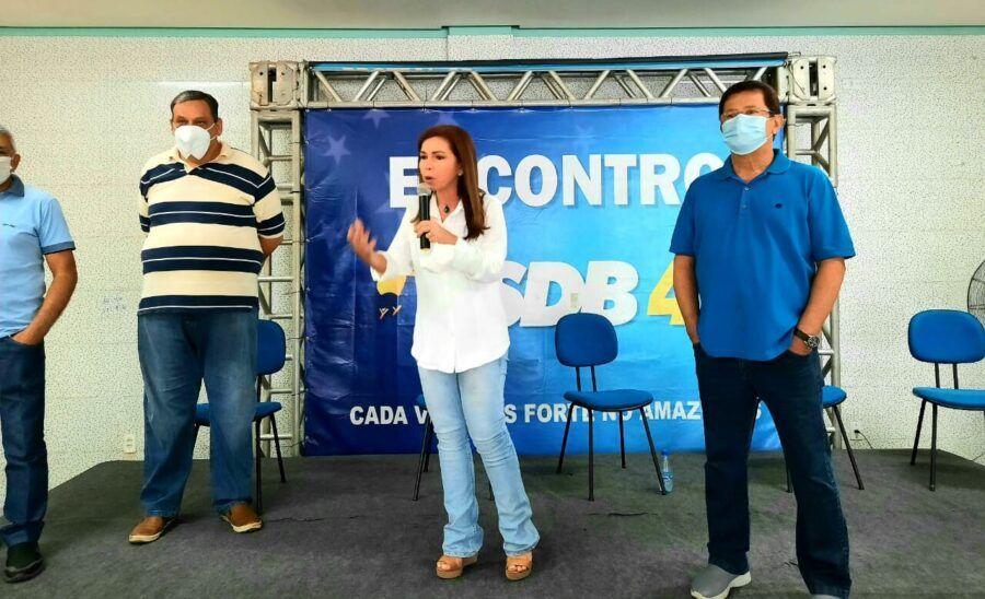 Alfredo Nascimento participa de evento do PSDB ao lado de Conceição Sampaio