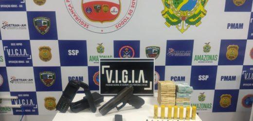 Policiais da Base Arpão prendem homem por porte ilegal de arma de fogo