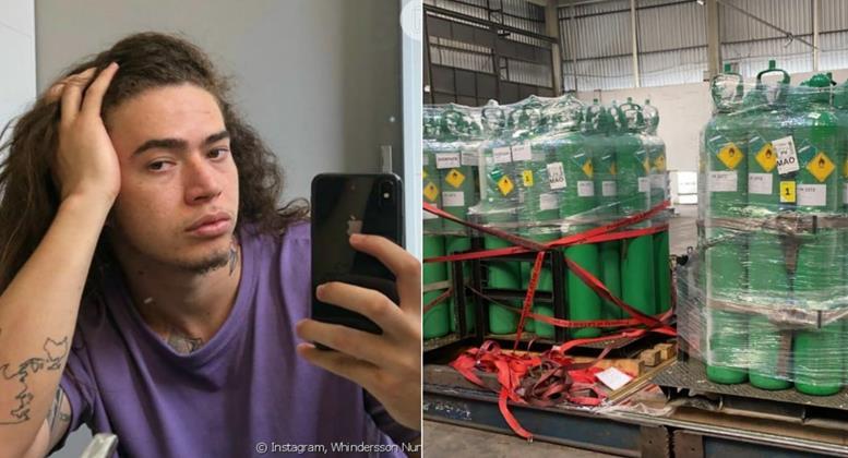 Whindersson Nunes anuncia doação de 20 cilindros de oxigênio para Manaus