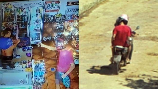 Dona de mercadinho reage a assalto e agride suspeitos com 'vassouradas'