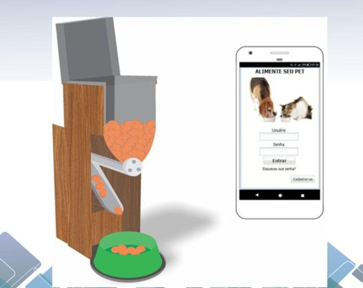 Aluno da Estácio projeta dispositivo para alimentar cães e gatos controlado por aplicativo